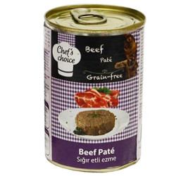 Chefs Choice - Chefs Choice Pate Biftek Ezmesi Tahılsız Kedi Konservesi 400 Gr