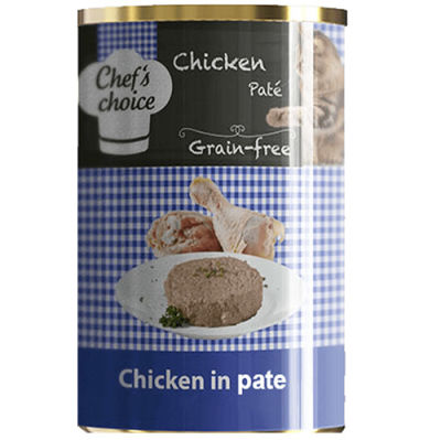 Chefs Choice Pate Chicken Tavuk Etli Ezme Tahılsız Kedi Konservesi 400 Gr