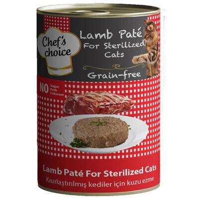 Chefs Choice Pate Kuzu Etli Kısırlaştırılmış Ezme Tahılsız Kedi Konservesi 400 Gr