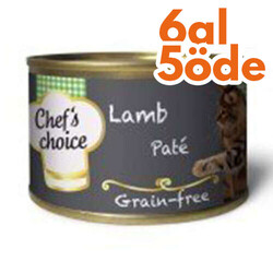 Chefs Choice - Chefs Choice Pate Kuzu Etli Tahılsız Kedi Konservesi 80 Gr - 6 Al 5 Öde
