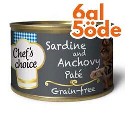 Chefs Choice - Chefs Choice Pate Sardalya ve Hamsi Ezmesi Tahılsız Kedi Konservesi 80 Gr - 6 Al 5 Öde