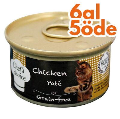 Chefs Choice Pate Tavuk Eti Tahılsız Kedi Konservesi 80 Gr - 6 Al 5 Öde