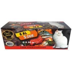 Chefs Choice - Chefs Choice Pate Ton Balıklı Tahılsız Kısırlaştırılmış Kedi Konservesi 85 Gr-6 Al 5 Öde