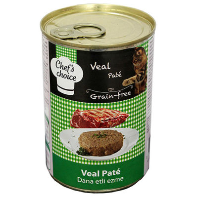 Chefs Choice Pate Veal Dana Etli Ezme Tahılsız Kedi Konservesi 400 Gr