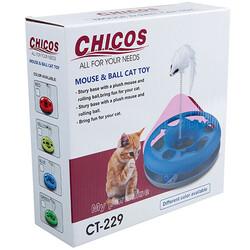 Diğer / Other - Chicos CT-229 Peluş Fareli İnteraktif Kedi Oyuncağı