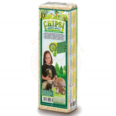 Chipsi Green Apple Yeşil Elma Aromalı Kemirgen Talaşı 1000 Gr (15 Lt)