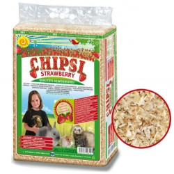 Chipsi - Chipsi Strawberry Çilek Aromalı Kemirgen Talaşı (60 Lt)