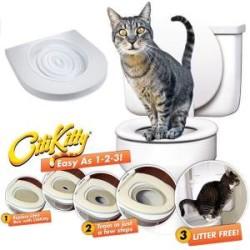 Diğer / Other - Citi Kitty Kedi Klozet Kapağı Aparatı Alıştırma Eğitim Seti