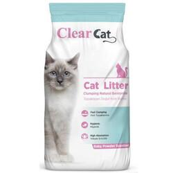Clear Cat - Clear Cat Bebek Pudralı Tozsuz İnce Taneli Kedi Kumu 10 Kg
