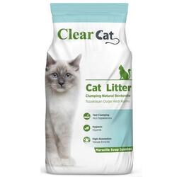 Clear Cat - Clear Cat Marsilya Kokulu Tozsuz İnce Taneli Kedi Kumu 5 Kg