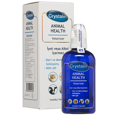Crystalin Animal Health 200 ML ( Yara Bakım Solüsyonu ve Dezenfektan )
