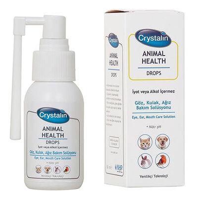 Crystalin Animal Health Drops 50 ML (Göz, Kulak ve Ağız Bakım Solüsyonu)
