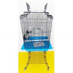 Dayang - Dayang Ayaklı Papağan Kafesi 54x54x139 Cm