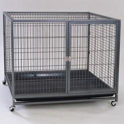 Dayang - Dayang Galveniz Tekerlekli Köpek Kafesi 110x70x90 Cm