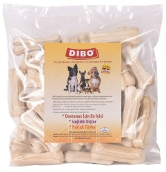 Dibo - Dibo Beyaz Kemik Köpek Ödülü 20-25 Gr-7 Cm 50li Paket