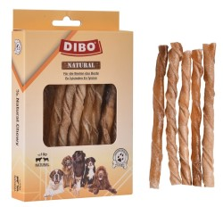 Dibo - Dibo Naturel Burgu Çubuk Köpek Ödülü 12 Cm (15li Paket)