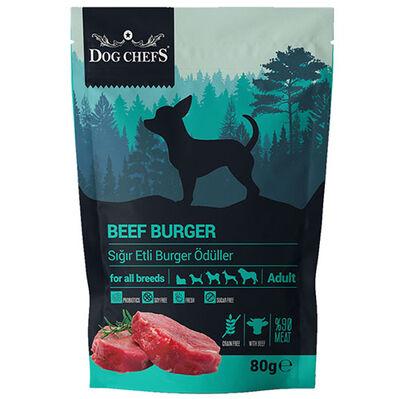 Dog Chefs Beef Burger Sığır Etli Tahılsız Köpek Ödülü 80 Gr
