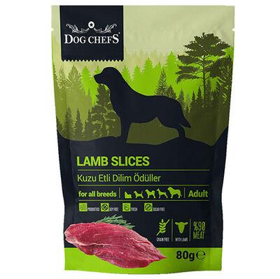 Dog Chefs Lamb Slices Kuzu Etli Dilim Tahılsız Köpek Ödülü 80 Gr