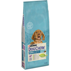 Dog Chow - Dog Chow Kuzu Etli Yavru Köpek Maması 14 Kg+10 Adet Temizlik Mendili