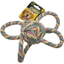 Diğer / Other - Dog Life İp Sargı Köpek Renkli Stres Topu 9 Cm