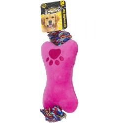 Diğer / Other - Dog Life Sandviç Peluş Diş İpli Köpek Oyuncağı 18 Cm
