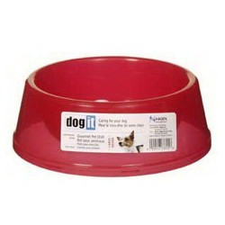Dogit - Dogit 73305 Plastik Mama-Su Kabı Kırmızı (Orta) /Cocker