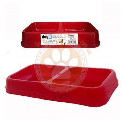 Dogit - Dogit 73335 İkili Plastik Mama-Su Kabı Kırmızı (Küçük)