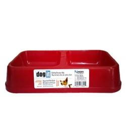 Dogit - Dogit 73355 İkili Plastik Mama-Su Kabı Kırmızı (Büyük)