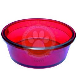 Dogit - Dogit 73380 Sert Plastik Mama-Su Kabı Kırmızı (Büyük)