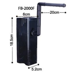 Dophin FB-2000F Akvaryum İç Filtre 5 Watt - Thumbnail