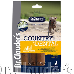 Dr.Clauders - Dr. Clauders Country Dental Ağız Diş Sağlığı Tavuk Etli Köpek Ödülü 120 Gr