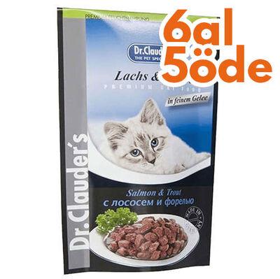 Dr. Clauders Pouch Somon & Alabalık Kedi Maması 100 Gr - 6 Al 5 Öde