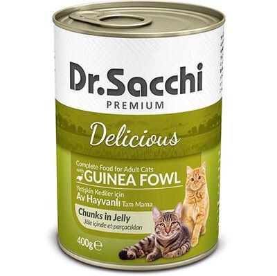 Dr. Sacchi Jöle Et Parçalı Av Hayvanlı Kedi Konservesi 400 Gr