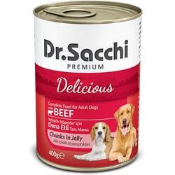 Dr.Sacchi - Dr. Sacchi Jöle Et Parçalı Biftek Etli Köpek Konservesi 400 Gr