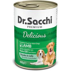 Dr.Sacchi - Dr. Sacchi Jöle Et Parçalı Kuzu Etli Köpek Konservesi 400 Gr