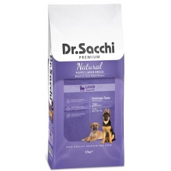 Dr. Sacchi - Dr.Sacchi Puppy Large Kuzu Etli Büyük Irk Yavru Köpek Maması 15 Kg