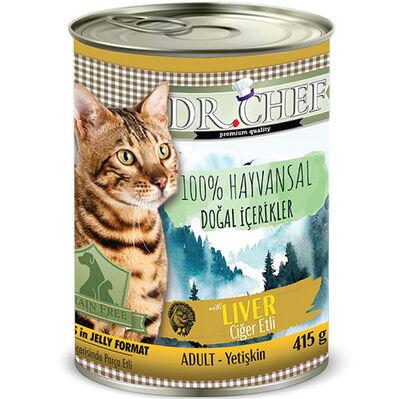 Dr.Chef Ciğer Etli Tahılsız Kedi Konservesi 415 Gr