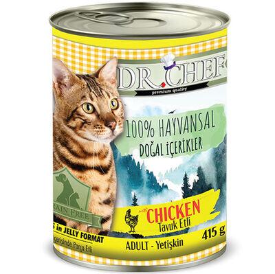 Dr.Chef Tavuk Etli Tahılsız Kedi Konservesi 415 Gr