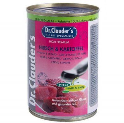Dr. Clauders Geyik ve Patates Deri Tüy Sağlığı Köpek Konservesi 400 Gr