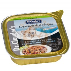 Dr.Clauders - Dr. Clauders Pate Karides&Morina Balıklı Kedi Yaş Maması 100 Gr