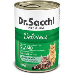 Dr.Sacchi - Dr.Sacchi Jöle Et Parçalı Kuzu Etli Kedi Konservesi 400 Gr