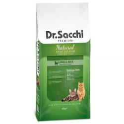 Dr.Sacchi - Dr. Sacchi Lamb Rice Kuzu Etli Kedi Maması 15 Kg + 10 Adet Temizlik Mendili