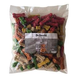 Dr.Sacchi - Dr.Sacchi Munchy Kemik Renkli Köpek Ödülü 3 - 6 Gram (100'lü Paket) - 580 Gr