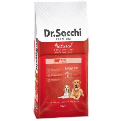 Dr.Sacchi Natural Beef Biftekli Köpek Maması 15 Kg