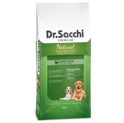 Dr.Sacchi Lamb&Rice Kuzu Etli Köpek Maması 15 Kg+10 Adet Temizlik Mendili