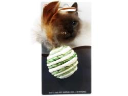 Eastland - Eastland 550201 Hasır Sesli Tüylü Top Kedi Oyuncağı