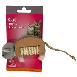 Eastland - Eastland 551143 Peluş Hışırtılı Kedi Oyuncağı Fare 10 x 6 Cm