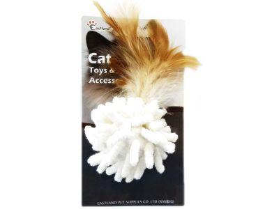 Eastland 551149 Catnipli Tüylü Peluş Top Kedi Oyuncağı
