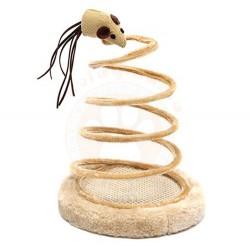 Eastland 554032 Tahta Tabanlı Yaylı Fare Figürlü Kedi Oyuncağı 14 x 24 Cm - Thumbnail