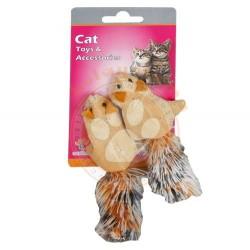 Eastland - Eastland Kedi Otlu ( Catnip ) Hışır Peluş Sincap 5 Cm ( 2'li Paket )